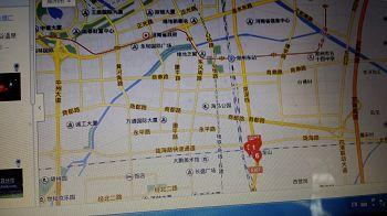 '注:红色数字的地方就是郑州青龙山庄。'