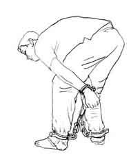 中共酷刑刑具:手铐脚镣