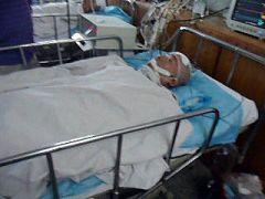 重伤的郭会生在医院抢救,经头部手术后离世