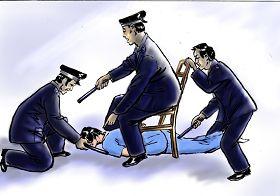 中共酷刑示意图:电击