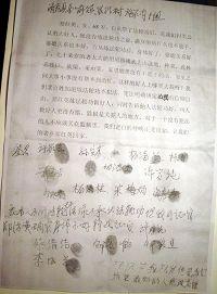 '郑洪英所在村的村民们联名上书呼吁'