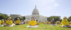 各界声援法轮功反迫害十二周年 美国会山大集会