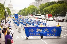 法轮功学员华府反迫害大游行 展现正信光芒
