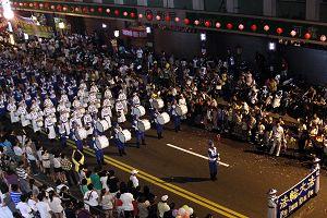 二零一一年八月十三日晚间,天国乐团参加基隆中元祭放水灯游行
