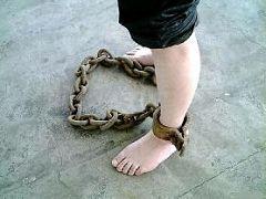 酷刑演示:脚镣