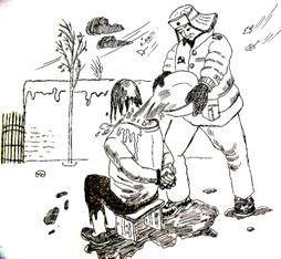 中共酷刑示意图:浇凉水