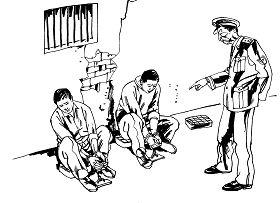 中共酷刑示意图:罚坐