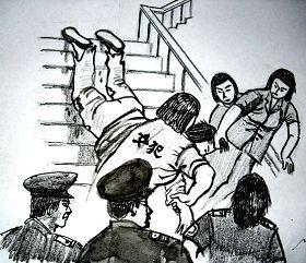 中共酷刑示意图:拖拽