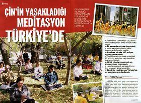 图五:土耳其著名杂志《新当代》介绍法轮功