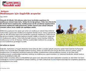 图六:土耳其《自由报》关于法轮功的报道