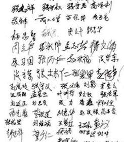 申诉人共三百七十六位村民签名(签名图片)