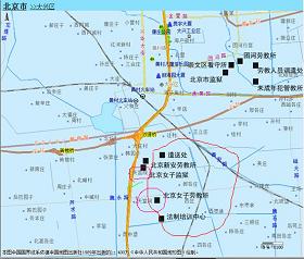 图表1北京大兴区地图局部