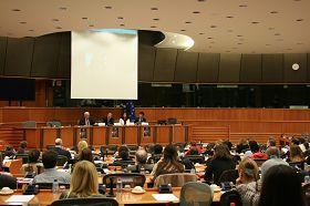 揭露中共迫害法轮功的纪录片《自由中国》在欧洲议会会议厅放映
