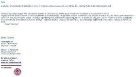 '丹麦国会议员、丹麦人民党副主席索伦?艾斯普森议员给法轮功学员的支持信'