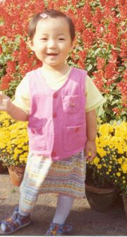 邹松涛和张云鹤的女儿邹法融三岁时的照片。