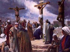 耶稣被钉死在十字架上(网络图片·绘画)