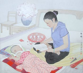 中国大陆法轮功学员美术作品《圣缘》