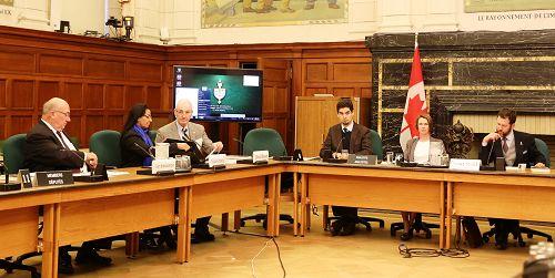 多位议员参加了由加拿大国会外交委员会的国际人权委员会举行的关于中共活摘器官的听证会