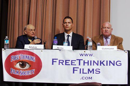 关于中共活摘器官研讨会的三位演讲者,左起:大卫•麦塔斯,戴蒙•诺托和伊森•葛特曼