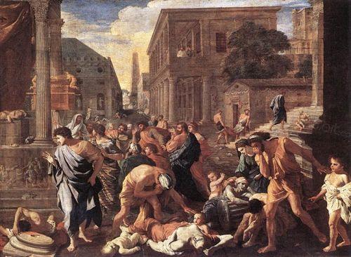 画家描绘的瘟疫(1630年,法国画家Nicolas Poussin)