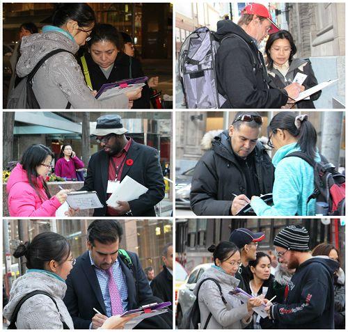 民众签名举报迫害元凶江泽民,支持制止迫害。