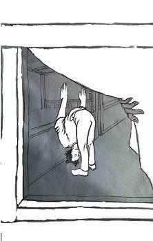 图14:两腿站直,头贴膝盖上,两手臂伸直上举