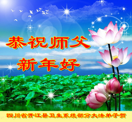 各行業法輪功學員恭祝李洪志大師新年快樂(28條)