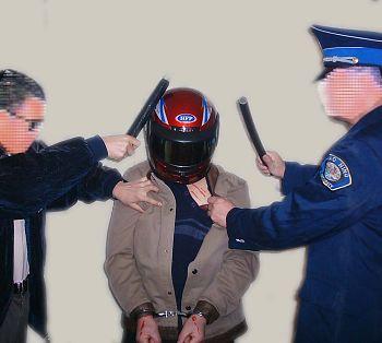 中共酷刑示意图:殴打头部