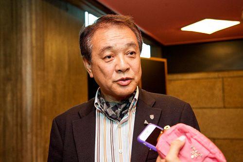 """环境事业公司执行董事的林正明(Hayashi Masaaki)先生观看了神韵在东京4月21日的演出后说:""""今天回家后,我什么也不想做,只想立刻把观看神韵的震撼与家人分享。"""""""