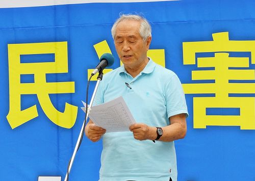 图13:图为北韩人权运动家金相宪演讲。