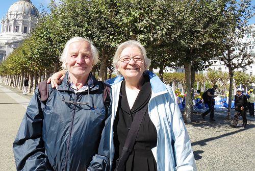 圖5:來自捷克的Bozena夫婦表示反迫害的事非常重要