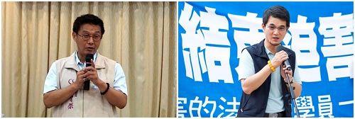 '图1:立委许智杰(左)、刘建国(右)'
