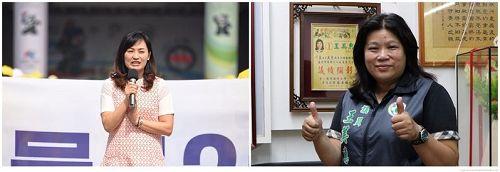 '图2:高雄市议员陈丽娜(左)、嘉义市议员王美惠(右)'