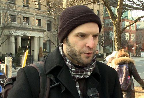 图7:在多伦多大学留学的来自乌克兰的Stamistan Gulegsky表示,江是不可以逃脱法律制裁的。