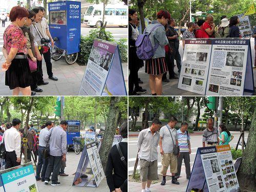 图4:中国游客专注细看真相。