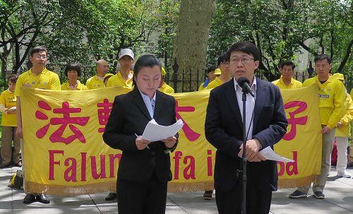 圖15:前北京空軍少校胡志明以親身經歷揭露中共對法輪功學員的殘酷迫害