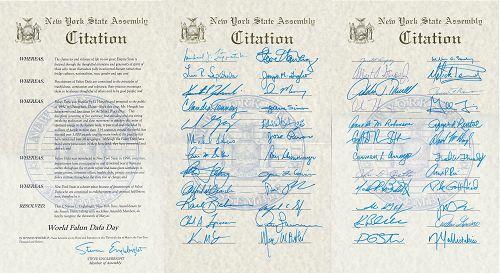 圖3-5:紐約州眾議院褒獎令
