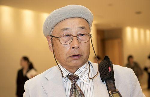 图3:日本庭园研究会会长吉河功(Yoshikawa Isao)先生