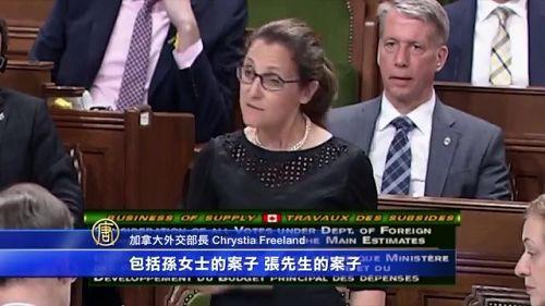 加总访华前,加拿大外长方惠兰(女),提到了加拿大访华代表团会在中国提出的四个个案。其中包括法轮功学员孙茜(Qian Sun)。