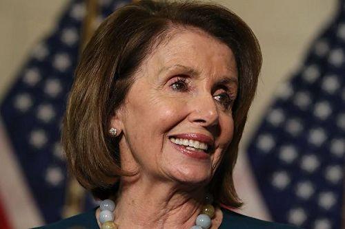 '图1:美国众议院少数党领袖来自加州的民主党人佩洛西(NancyPelosi)'