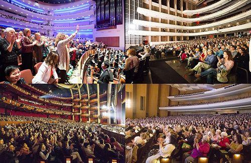 '图1:从三月七日至四月二十九日,神韵艺术团在凤凰城、拉斯维加斯和洛杉矶附近地区共十二个城市的剧院连续上演五十一场演出,场场售罄,总计十万观众有幸目睹神韵风采,创造了神韵演出史上又一个里程碑。'
