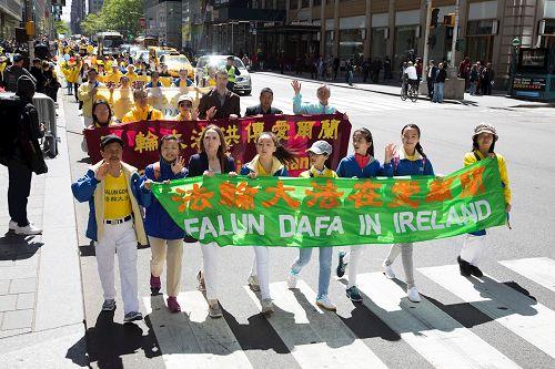 '圖1~5:二零一七年五月十二日,紐約法輪大法日活動的遊行隊伍'