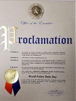 纽约长岛拉撒县(Nassau county executive)执行长爱德华•曼加诺颁发的褒奖