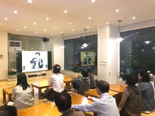 '图1~2:韩国天梯书店举行的九天学习班'