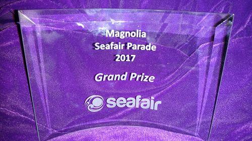 '图1:西雅图玉兰区庆典活动组委会授予法轮功唯一的特等奖。'