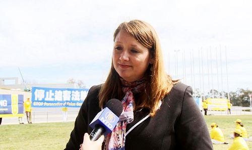 国际人权倡导和宣传组织律师托卡吉(Andrea Tokaji)女士。