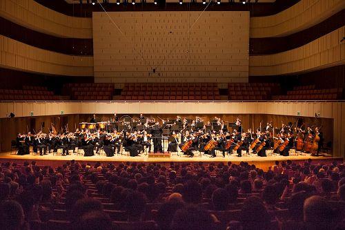 '图1:神韵交响乐团首度莅临韩国,2017年9月17日下午于大邱音乐厅举行巡演亚洲的首场演出。'