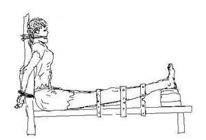 '酷刑演示:老虎凳'