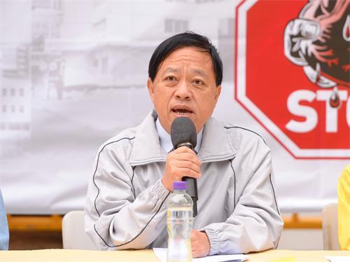 """图5:香港前区议员林咏然呼吁中国人一定要认清""""爱国不是爱党""""。"""