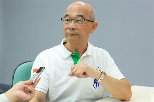 """''图1:台湾跨国企业年兴纺织公司前总经理黄士坤说?:""""法轮功救了我和太太。""""''"""